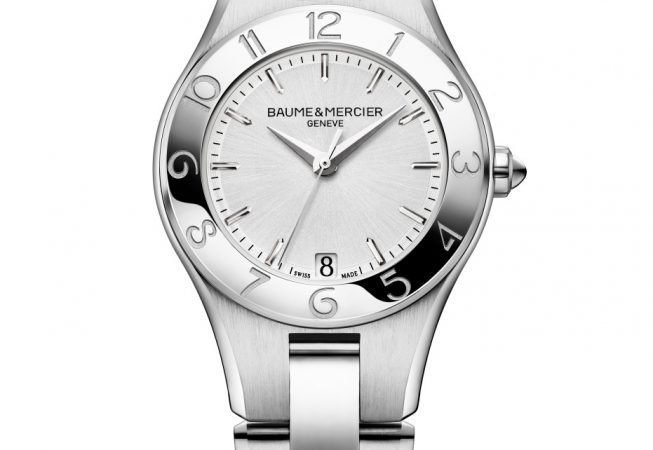 Watch Linea steel quartz watch. Ladies, round, 32mm, interchangeable strap