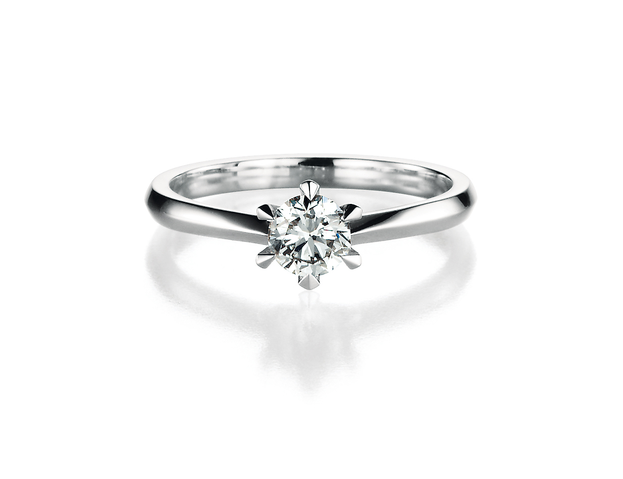 solitaire witgoud diamand