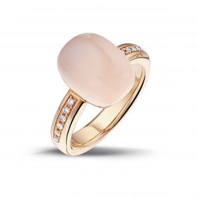 Ring roze steen