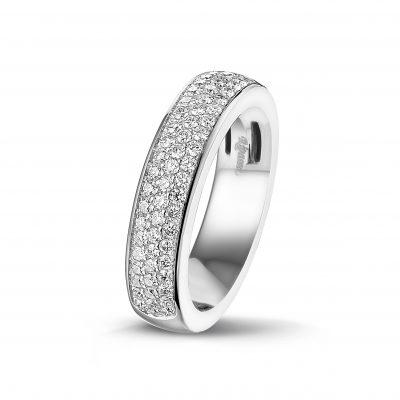 Ring witgoud diamanten