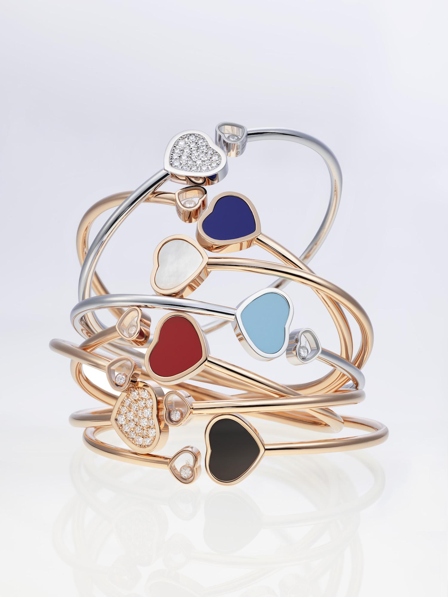 Happy Hearts bangle bracelets lichter bestand