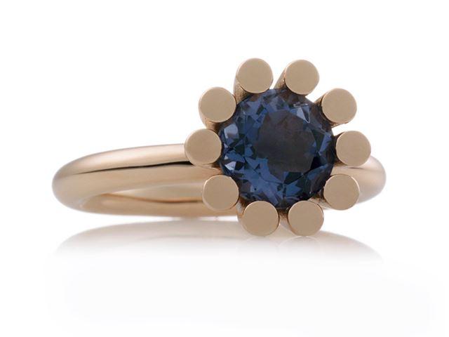 Phlox ring met facet ioliet en witte diamantjes - 8RR4531IOBR