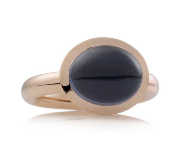 Solar ring met cabochon ioliet - 8RR4719IOC