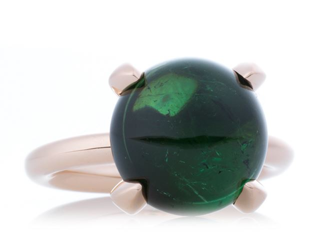 Catch ring met cabochon groene toermalijn - 8RR4753GTC