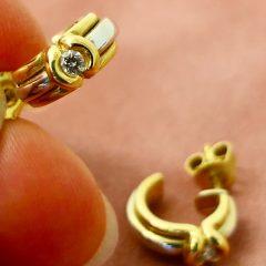 Gold Bicolor Earrings